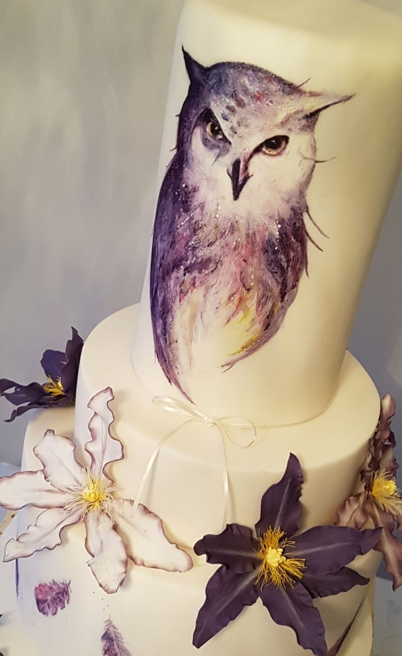 Feather and fancy - Hand-painting