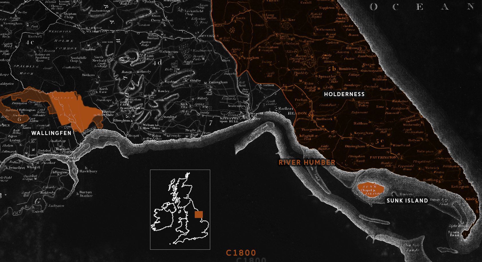 Map of the East Riding of Yorkshire early 18th c EDIT - WALLINGFEN.jpg