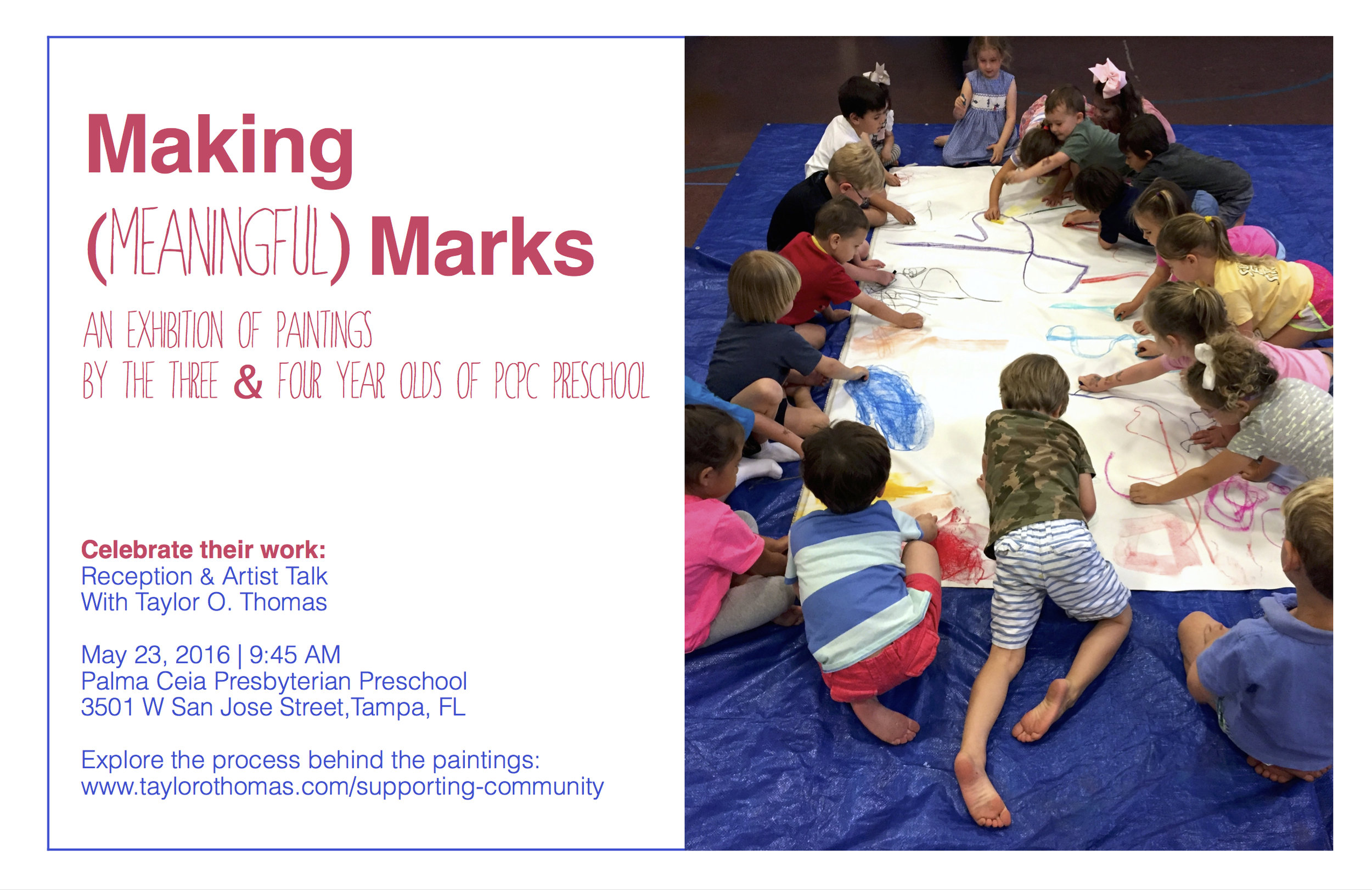 Artist Residency on how Preschoolers are