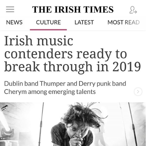 THUMPER Irish Times 2019 Music Raised by Wolves PR