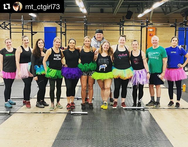 Those 5am'rs are a little strange, but sure know how to make lifting fun! Love the tutus guys !! Haha #Repost @mt_ctgirl73 with @get_repost ・・・ 5am Tutu Barbell Club. Life and Lifting is better in a Tutu. #5amcoolkids #barbellclub #crossfit #liftingisbetterinatutu #girlswholift #boyswhotrytolift #liftheavy #kongstrong🦍 @kongcrossfit_shelton @kongcrossfit