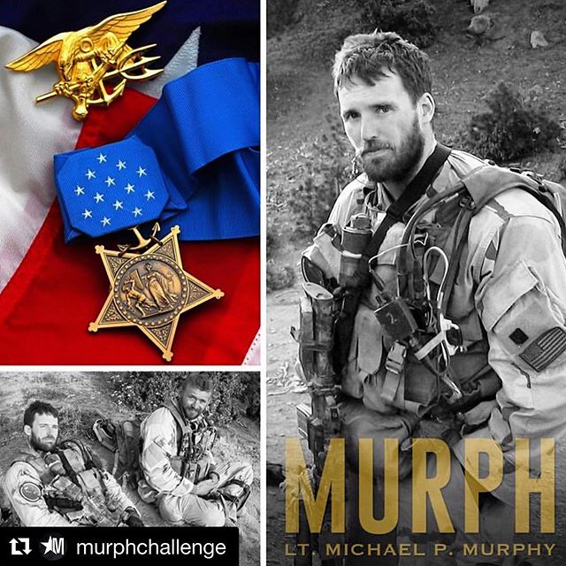 9:30am start time. Saturday the 25th  If you're late... no big deal, just join in. BBQ to follow.  If you think the workout is to much for your first time, there is scaling options. JUST SHOW UP!  Taking place at Shelton location.  #Repost @murphchallenge with @get_repost ・・・ #NationalMedalOfHonorDay  On June 28th, 2005, Lt. Michael P. Murphy valiantly gave his life in order to save the lives of his fellow SEALs. His actions and sacrifice would lead him to posthumously receive our nation's highest military award, the Medal of Honor. We shall never forget your courage and selfless act of heroism, Lt. Murphy. __ PC: @devildoggraphix #MedalOfHonorDay #MikeMurphy #Murph #MedalOfHonor #LtMichaelMurphy