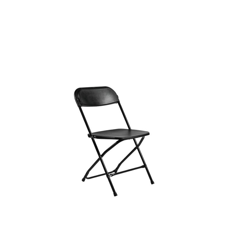 Black Plastic Folding Chair   Atlanta Party Rentals