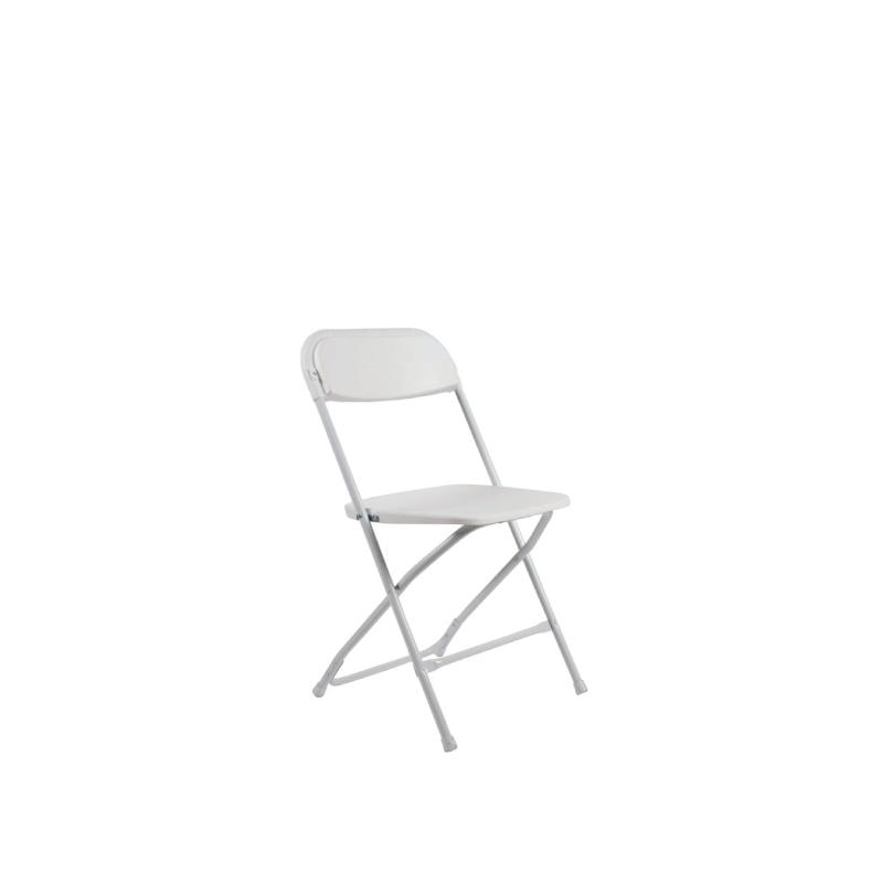 White Plastic Folding Chair   Atlanta Party Rentals
