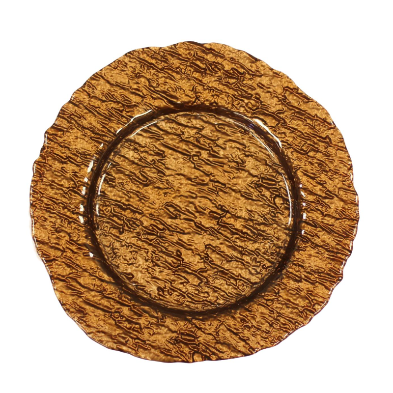 Brown Glass Charger | Atlanta Party Rentals