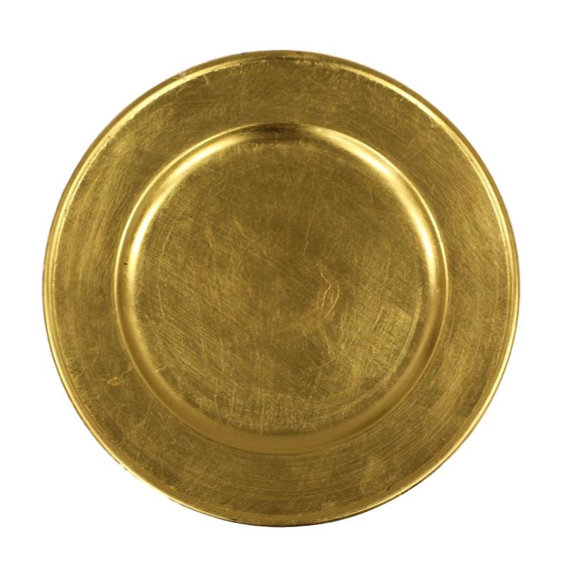 Gold Acrylic Charger | Atlanta Party Rentals