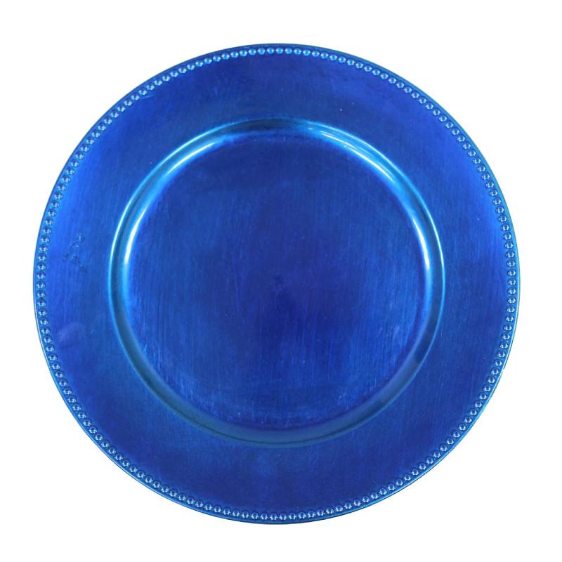 Blue Beaded Acrylic Charger | Atlanta Party Rentals