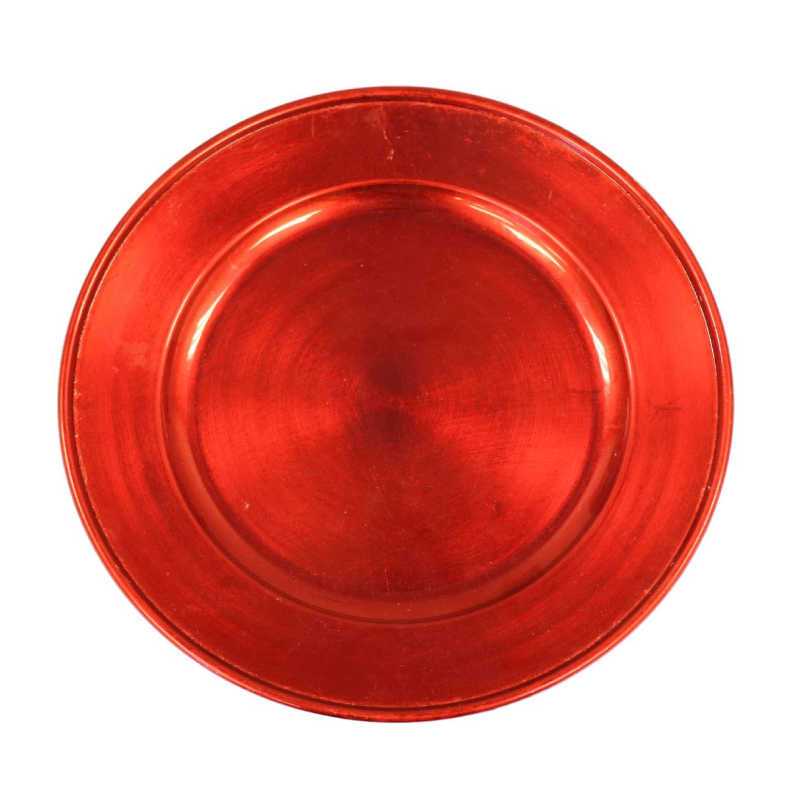 Red Acrylic Charger | Atlanta Party Rentals