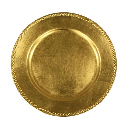 GOLD RIBBON CHARGER | Atlanta Party Rentals