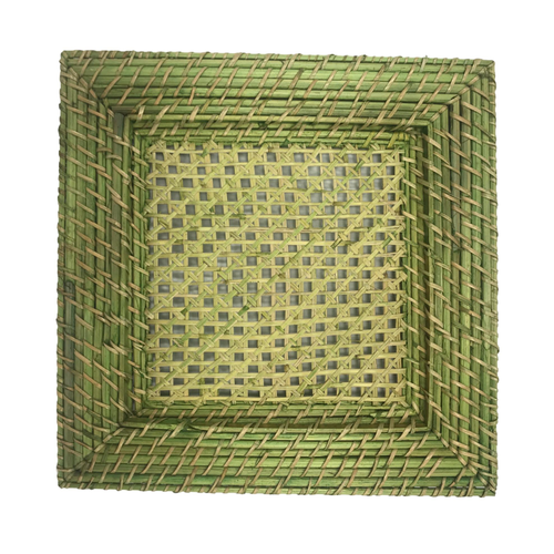 LIGHT GREEN WICKER CHARGER | ATLANTA PARTY RENTALS