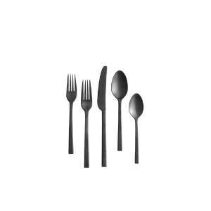 Brushed Black Flatware | Atlanta Party Rentals