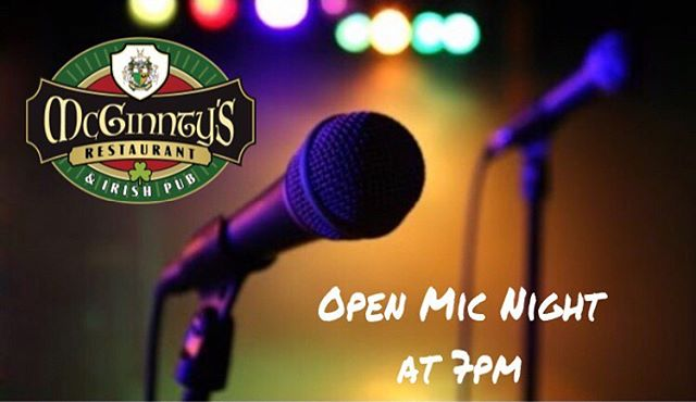 Join us for our Open Mic Night tonight at 7pm with host Beartoe.  See you there!  #beartoe #musicatmcginntys #mcginntysirishpub