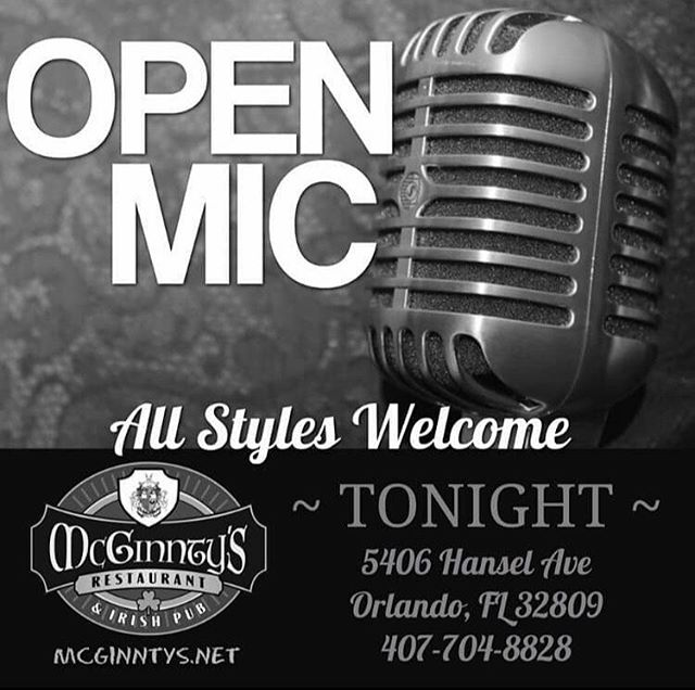 *Final Open Mic* It's with a heavy heart we say goodbye to Mcginntys Irish Pub. I'm thankful for the opportunities they've given me to grow Open Mic Night and the family around it. Come join us one last night before the pub closes to say goodbye and share songs, stories, food and drinks!