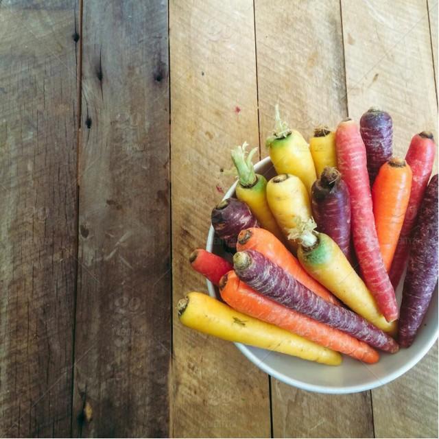 Rainbow Carrots are high in Beta-Carotene!