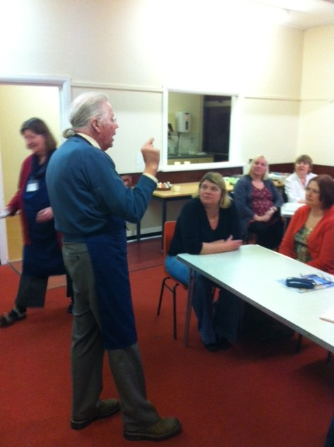 March 2013:  A tutoured cheese tasting session with Eleanor and David Robins from Say Cheese