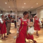 September 2016:  As part of our activity week we had a go at Morris dancing with Dacre Ladies Morris dancers.