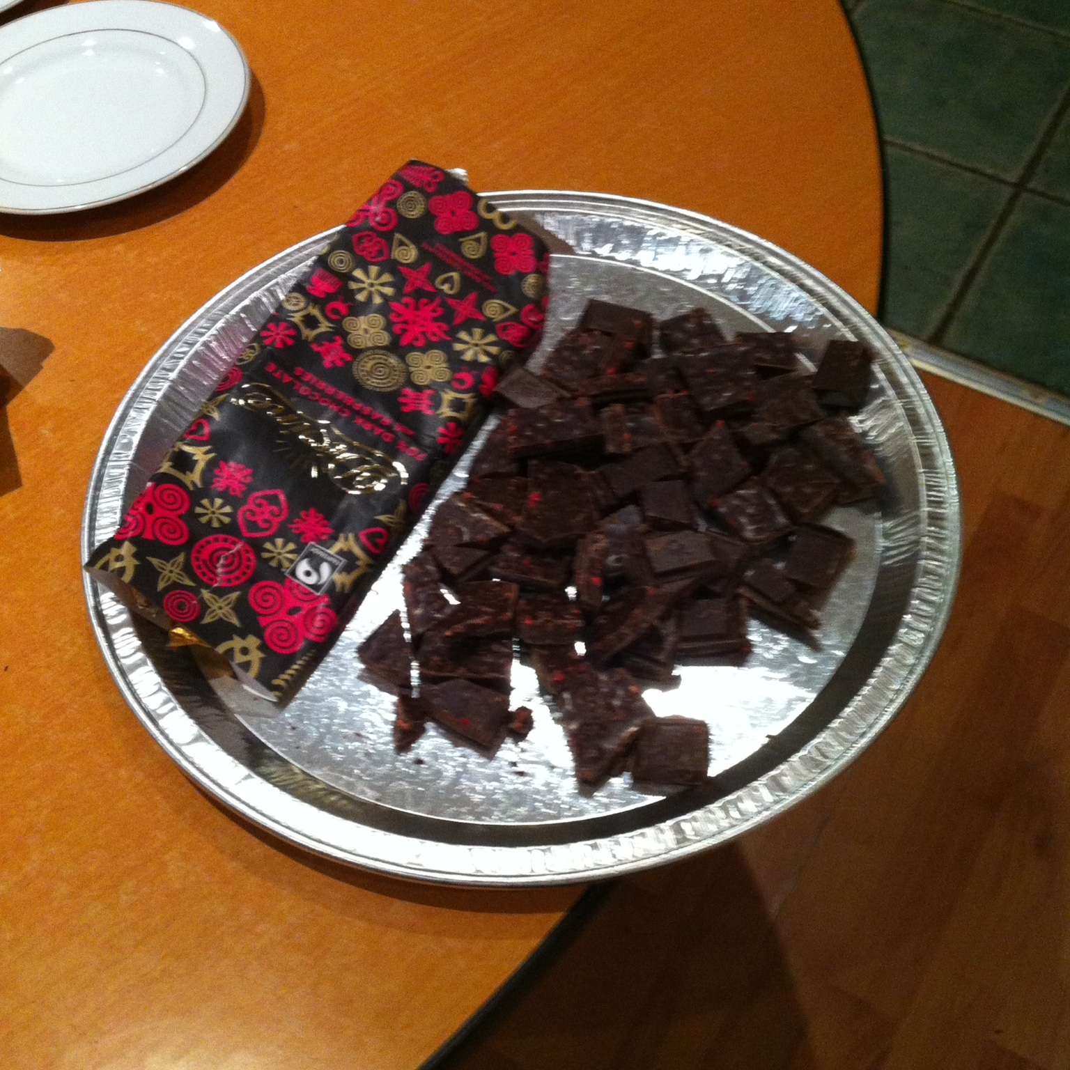 February 2014:  Rumana taught us about the history of chocolate, how it is processed and how to taste it. We were able to taste seven different types of plain and flavoured fairtrade chocolate and to match some of them to different beers.