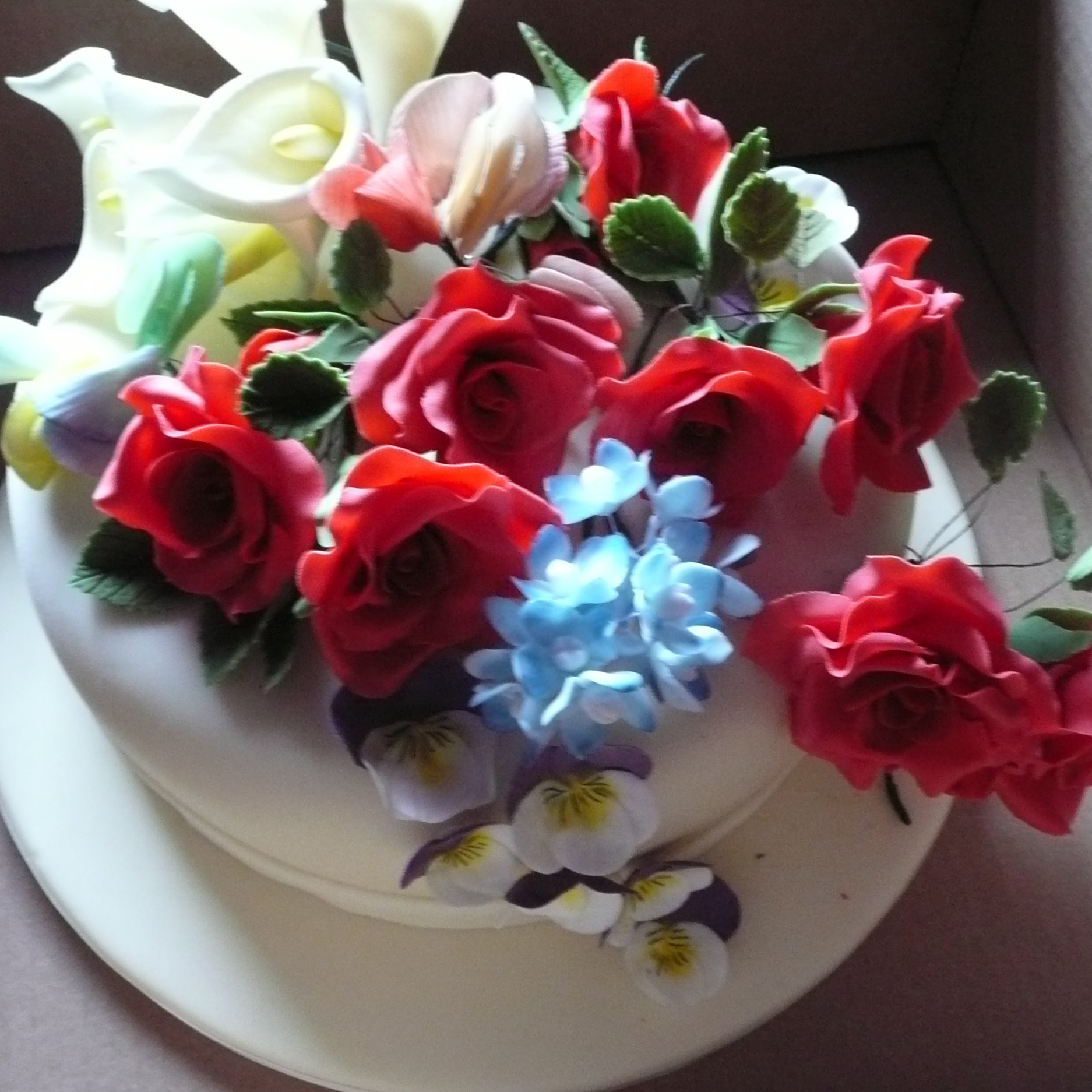 March 2015:  Christine demonstrated how to make flowers out of sugar paste and showed us some of her exquisite work. We then had a go at making a simple pansy.