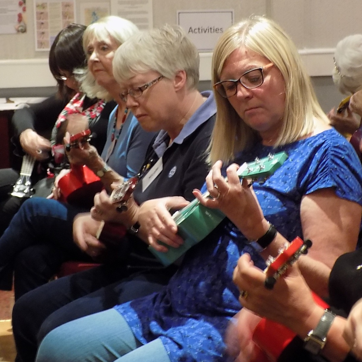 September 2017:  We learnt to play the ukulele.