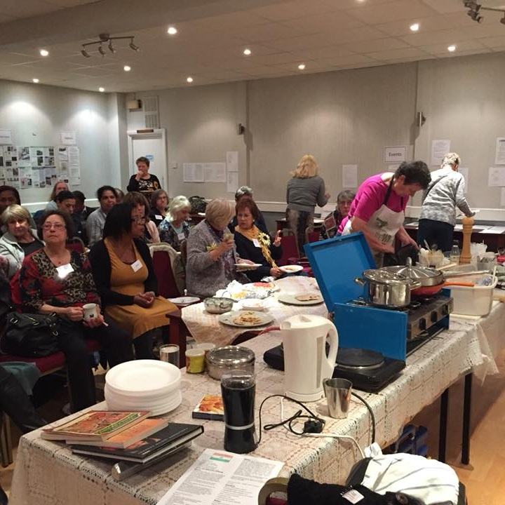 November 2017:  Sue Hollins gave us a demonstration of simple Indian cookery.