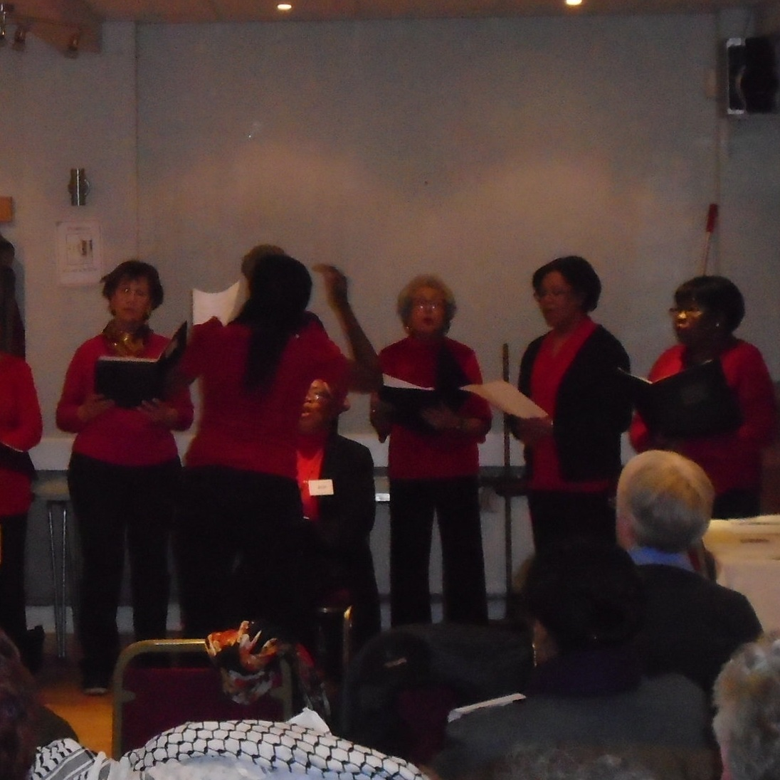 March 2018:  Downham and Whitefoot Community Choir sang for us.
