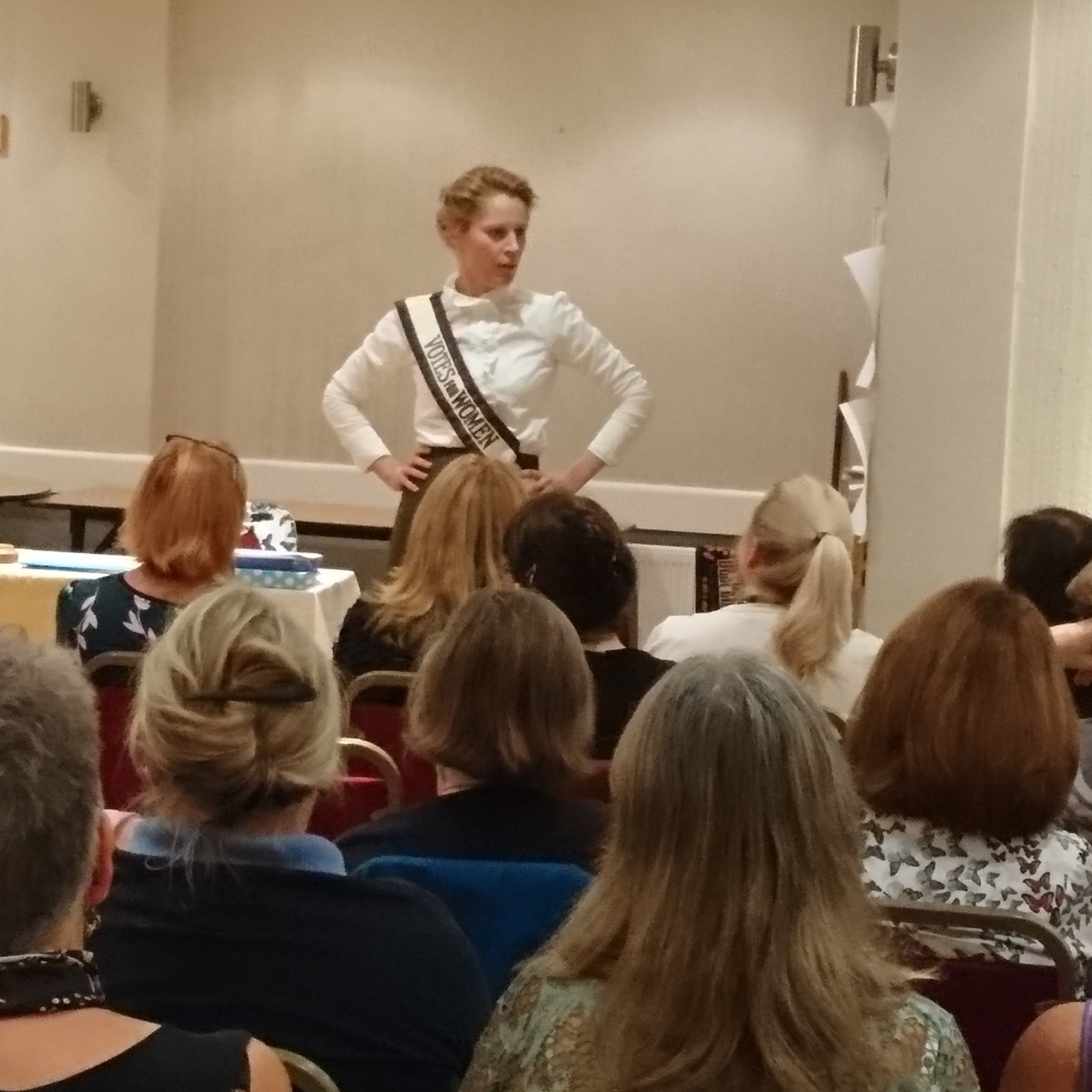 September 2018:  Kate Willoughby talked to us about the suffragettes.