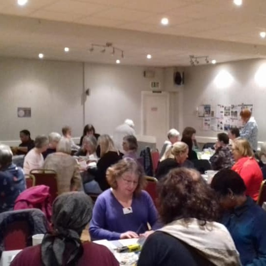 March 2019:  Members and guests enjoyed a sociable craft evening, decorating picture frames.