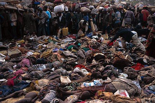 Genocide in Rwanda, triggered by Hutu media
