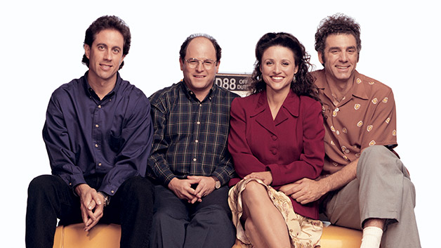 Small screen heaven: The  Seinfeld  cast, from left, Jerry Seinfeld, Jason Alexander, Julia Louis-Dreyfus, and Michael Richards