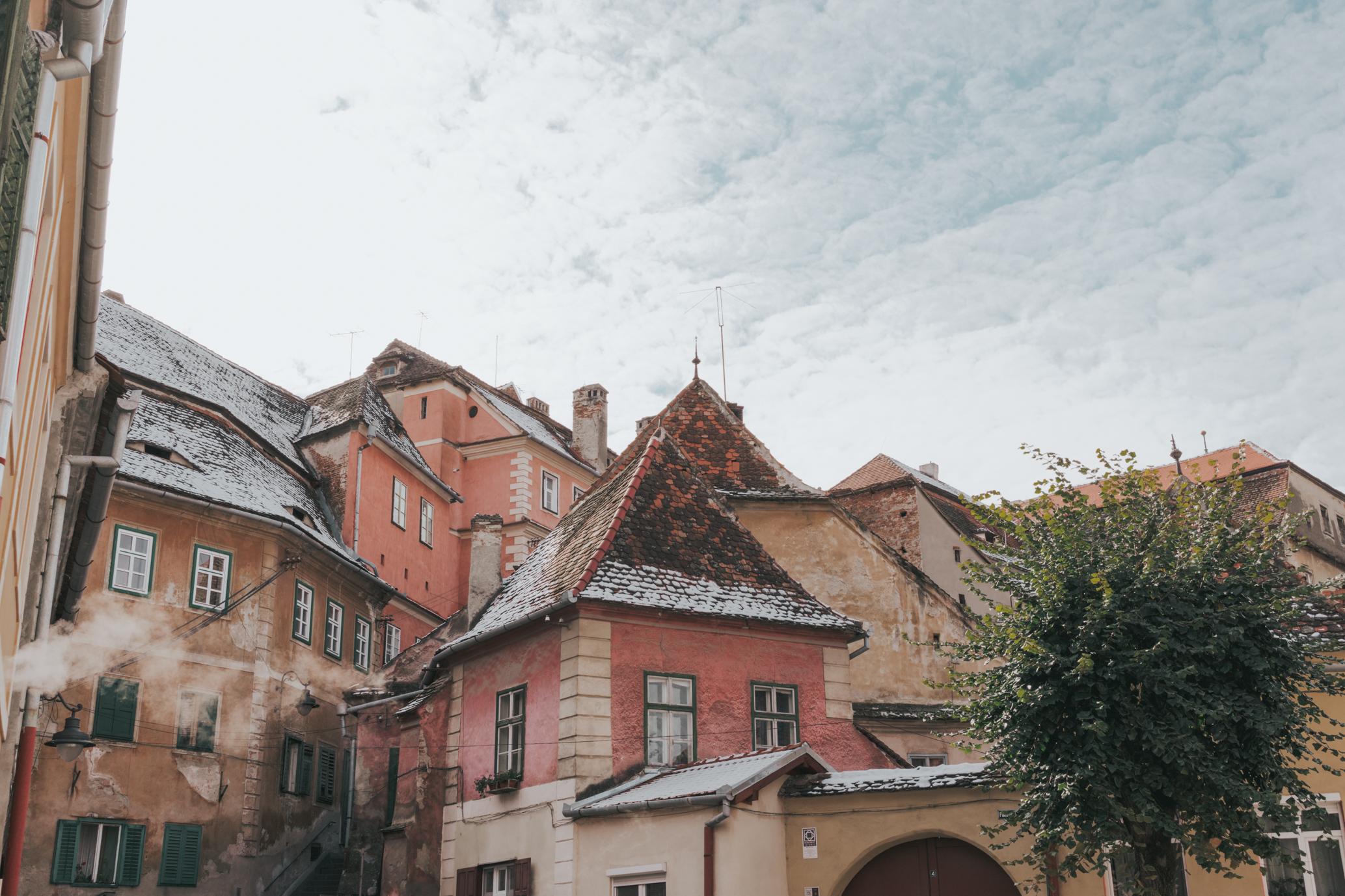 Sibiu Romania Colorful Town