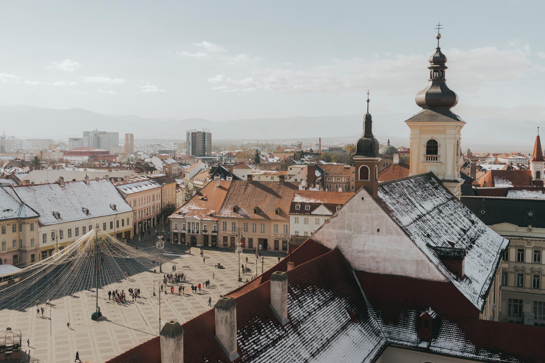 Sibiu Romania Piata Mare
