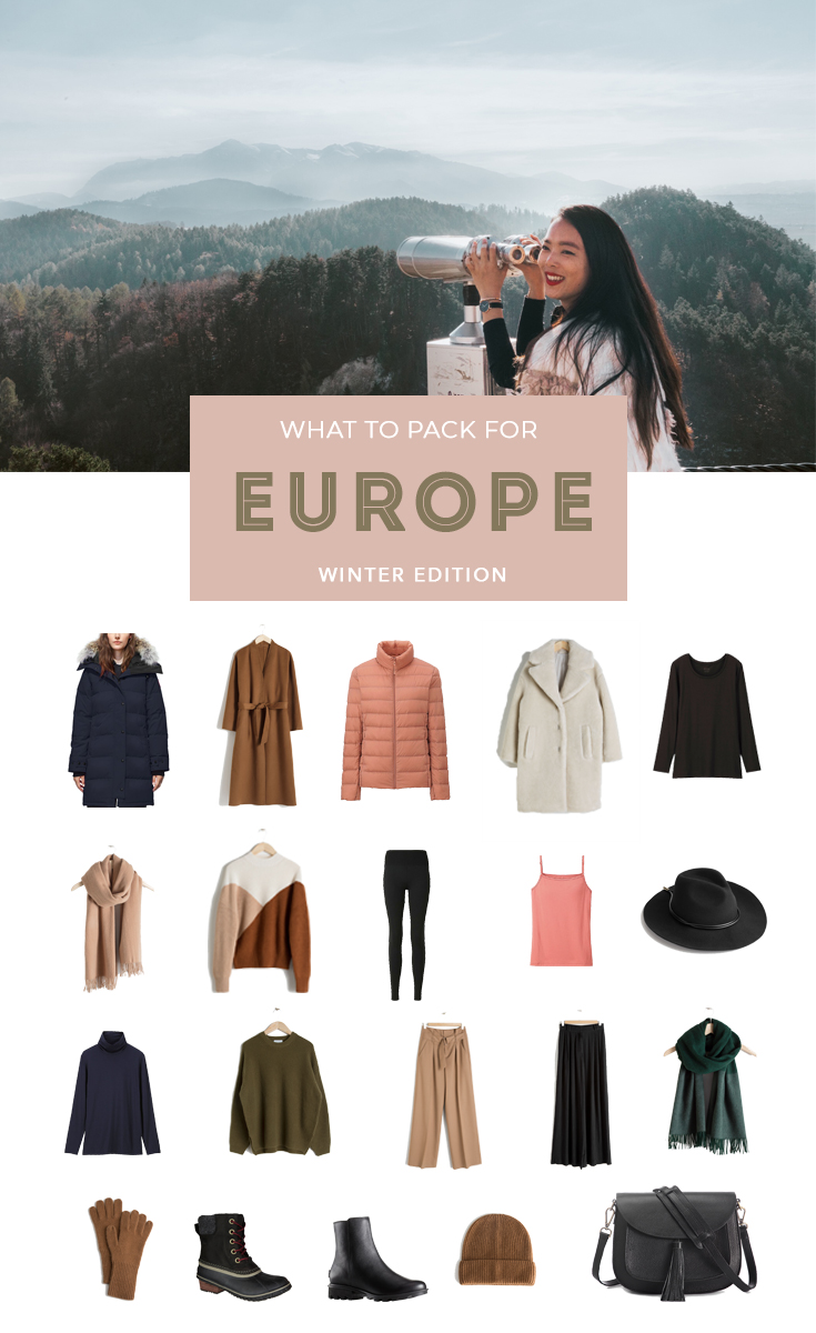 What to Pack for Winter in Europe to stay warm, stylish, and fit everything in a carry on  #PackingList #Packing #PackingTips #PackingHacks #PackingforEurope #Packingforwinter #carryononly
