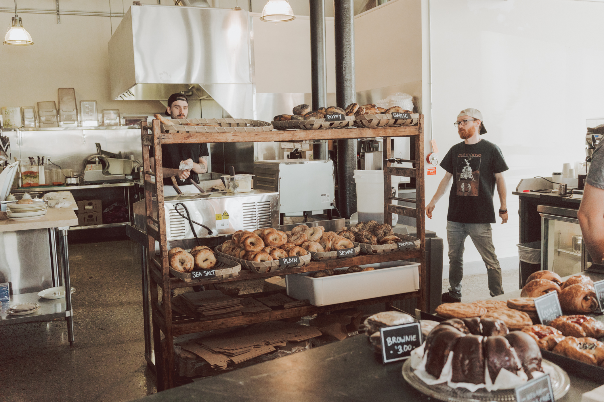 Bagel shop in Portland Maine