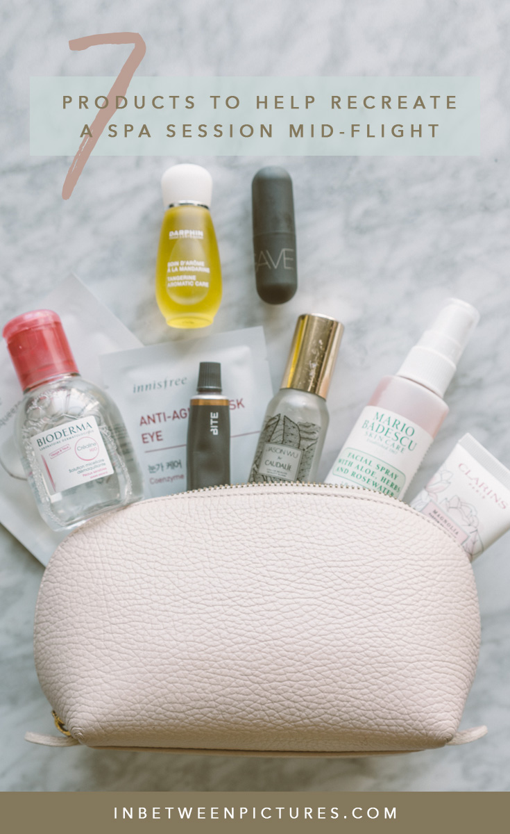 Keep your skin hydrated even after a long haul flight! 7 Products To Help You Recreate a Spa Session Mid-Flight