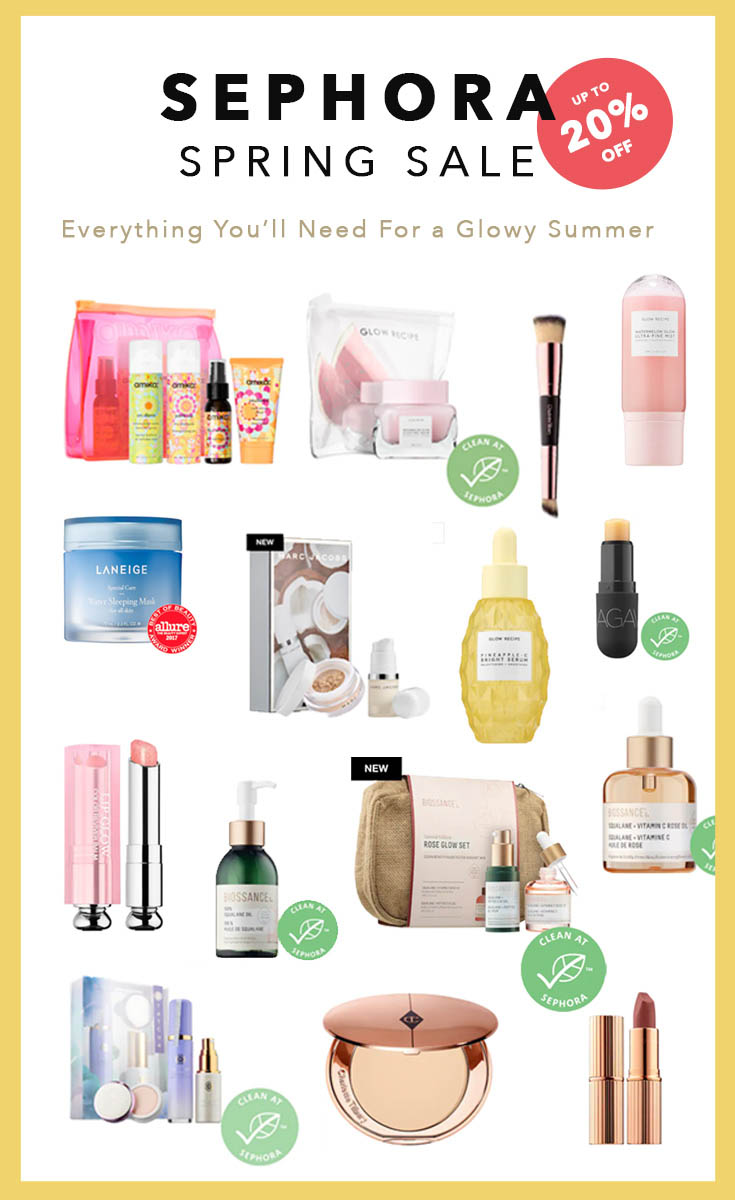 Sephora Spring Sale VIB Insider Sale - What to get during the sale and Sephora coupon code for VIB Sale - Everything you need to get for a glowy skin this summer