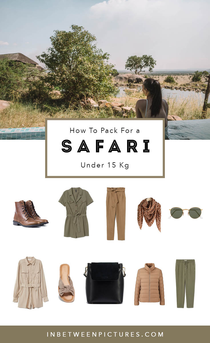 Wondering what to wear for an African Safari trip? Here's my complete guide on what to pack for a safari - All under 15 Kg #Kenya #Tanzania #Safari #PackingList #Africa