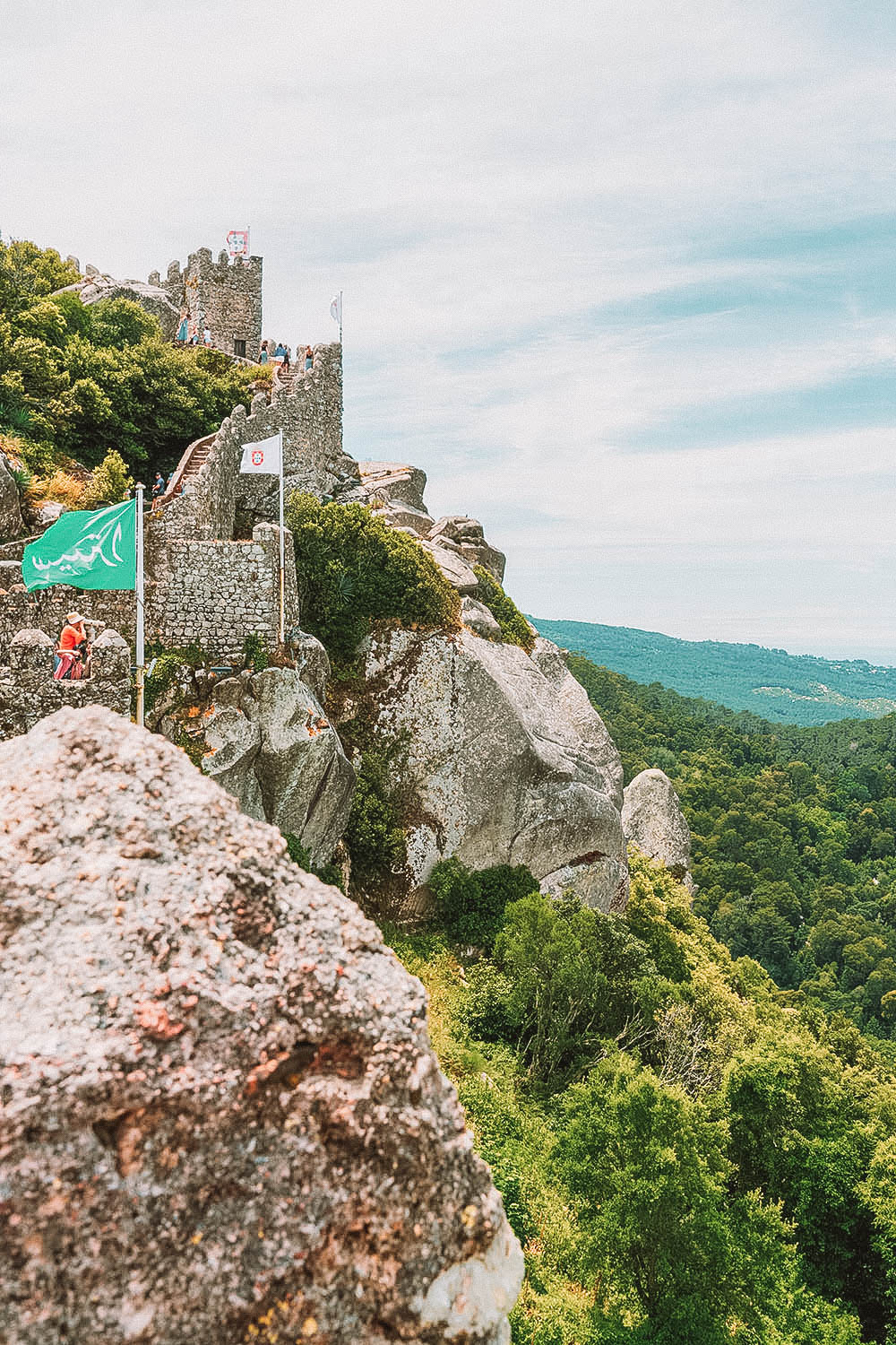 Moorish Castle - Ultimate Guide to Visiting Sintra Portugal in a day trip from Lisbon Portugal  #Sintra #Lisbon #Portugal #Europe