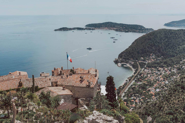 Eze Village Panoramic View France Cote D'Azur