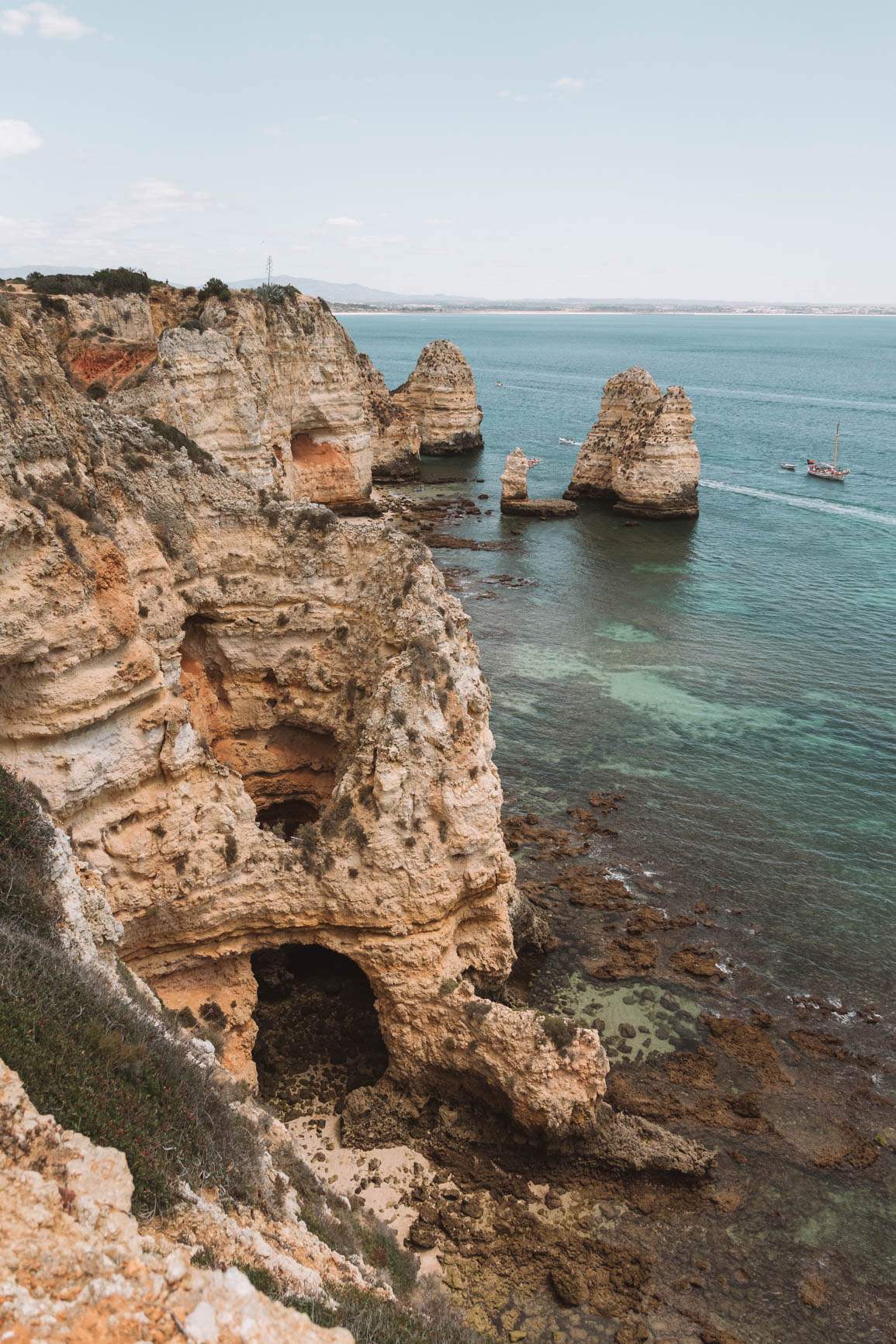 Ponta da Piedade Lagos Portugal - 3 Day itinerary in Lagos including complete guide to Lagos Algarve #Portugal #Europe
