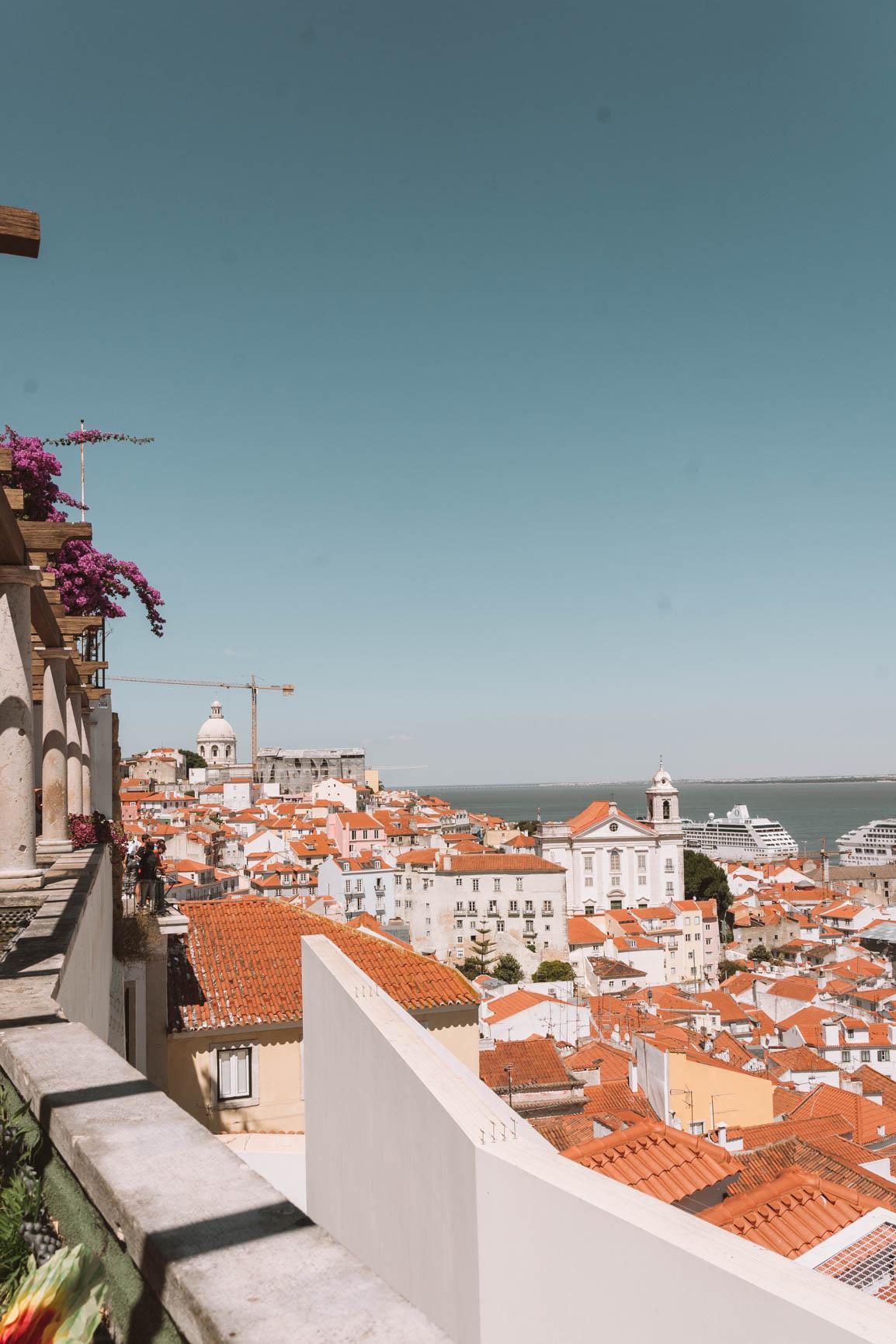 Best miradouro in Lisbon Portugal