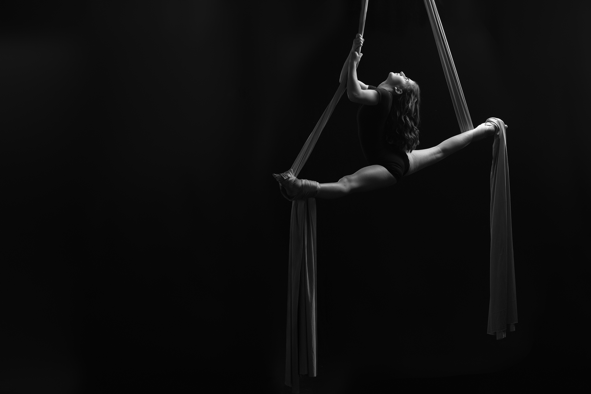 Awe-Inspiring - Lauren's beautiful moves, while elevated on the silk, left us in awe