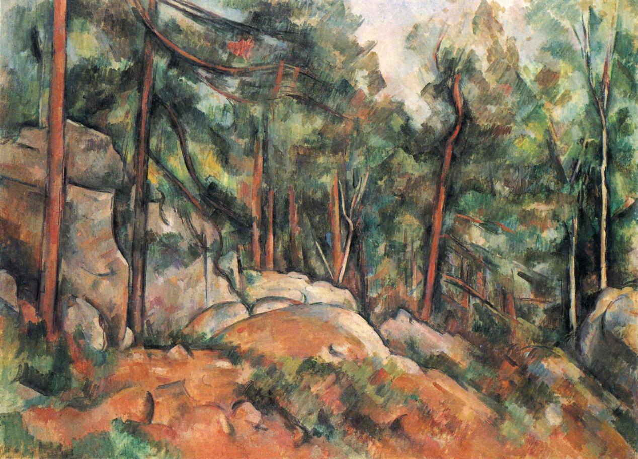 Paul Cézanne (1839–1906), La Montagne Sainte-Victoire vue de Montbriand (Mont Sainte-Victoire, View from Montbriand) (1882–85), oil on canvas, 65.5 x 81.7 cm, The Metropolitan Museum of Art, New York, NY. Wikimedia Commons.