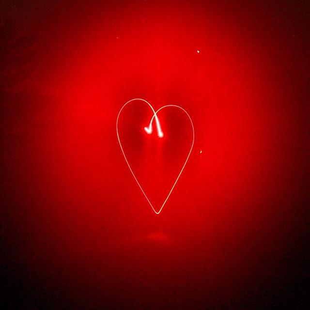 Red light at night.