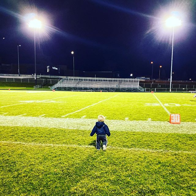 """""""The real glory is being knocked to your knees and then coming back. That's real glory. That's the essence of it."""" - Calvin Meves, age 1 (or Vince Lombardi)"""