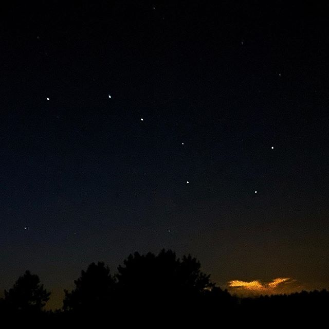 Captured Big Dipper after bow hunting. Unexpected results from a cell phone. Wow! #iphone11pro