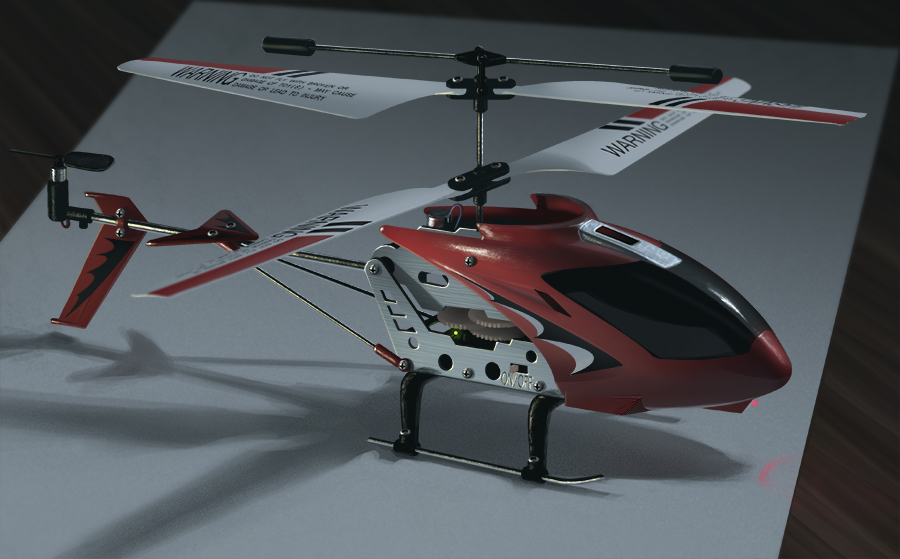 Still Life of toy helicopter