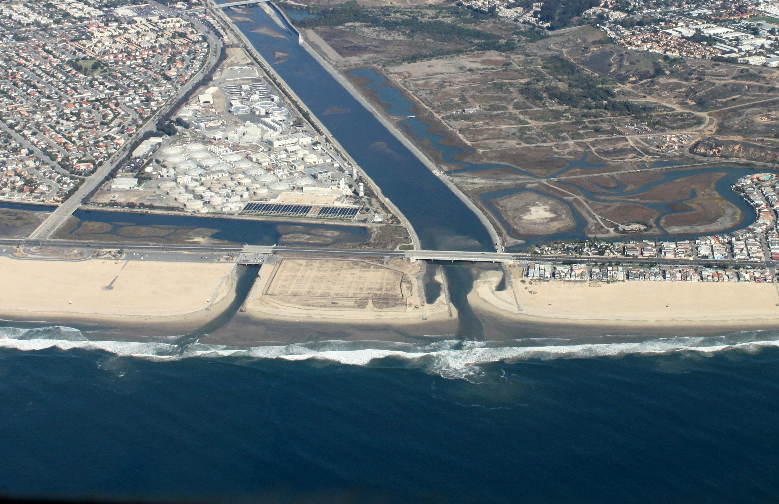 Talbert Channel and Santa Ana River Jetties