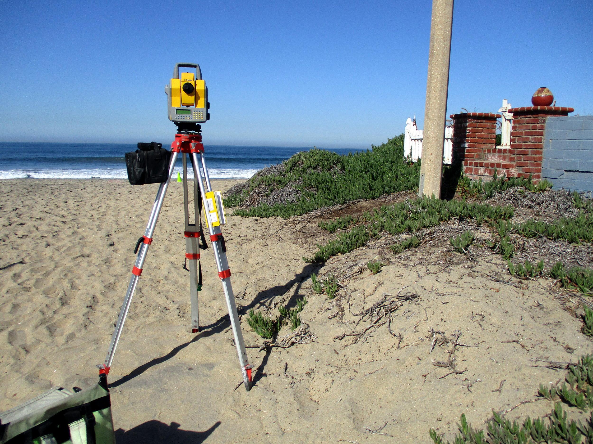 Beach Profile Survey - Total Station.JPG