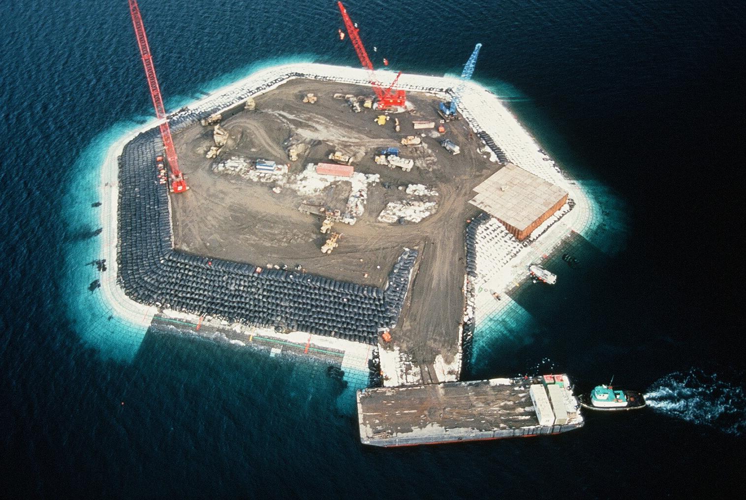 Survey of Eroding Bluff, Beaufort Sea