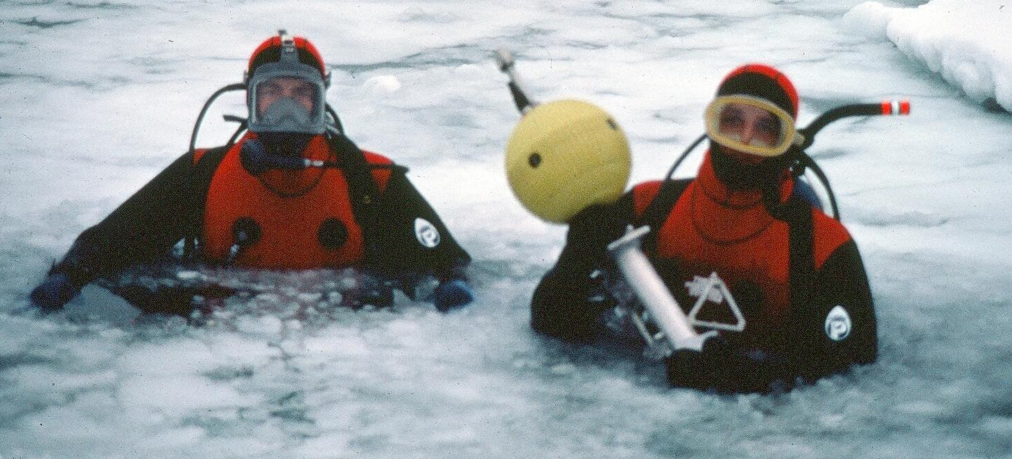 Installing Current Meter through Arctic Ice